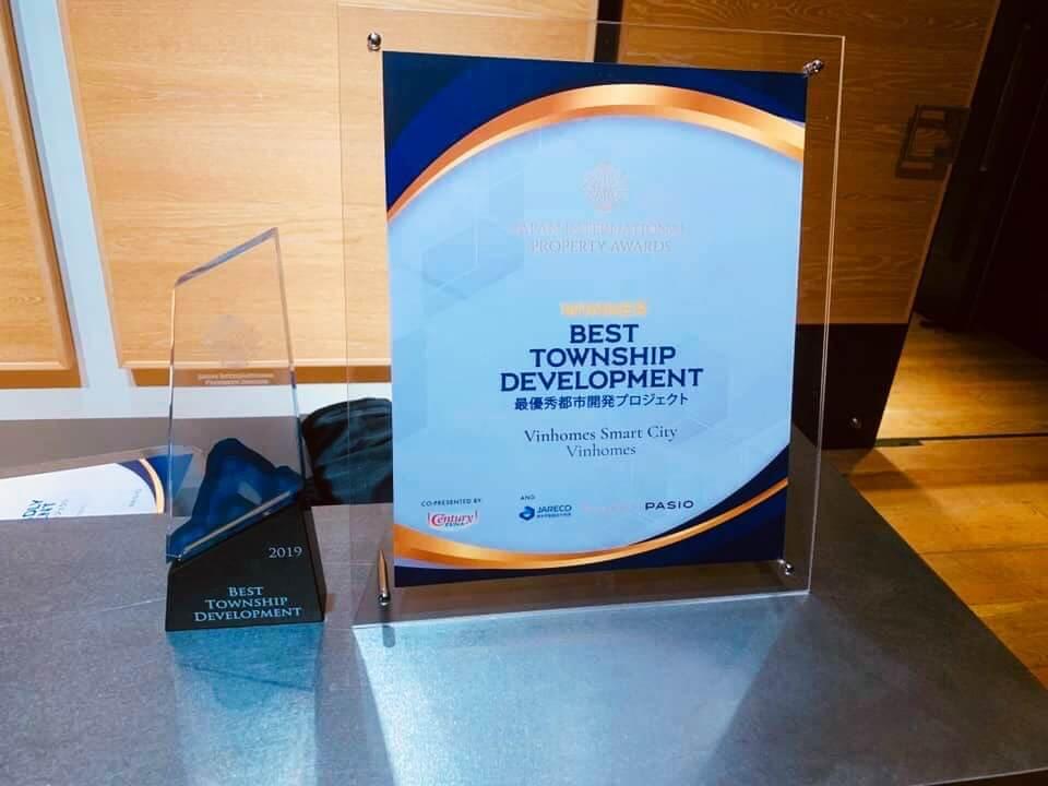 Vinhomes Smart City giành giải Best Township Development tại lễ trao giải Japan International Property Award