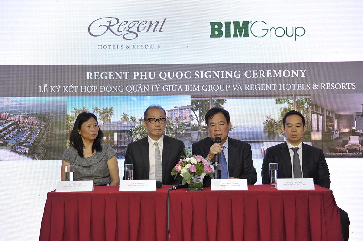 lễ kí kết của BIM Group và Regent Hotel & Resort